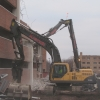 Universal Processor and High Reach Demolition of Parking Garage